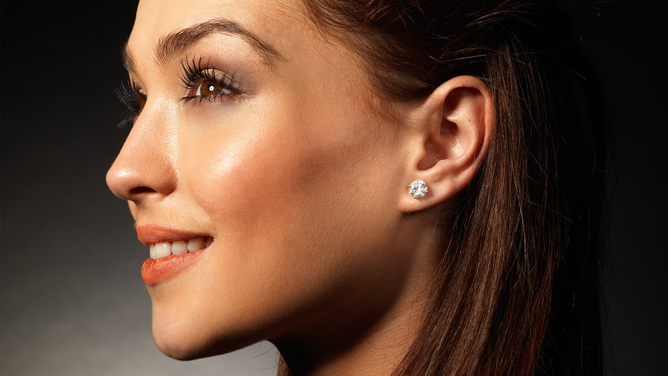 Side Profile of Lady with Earring