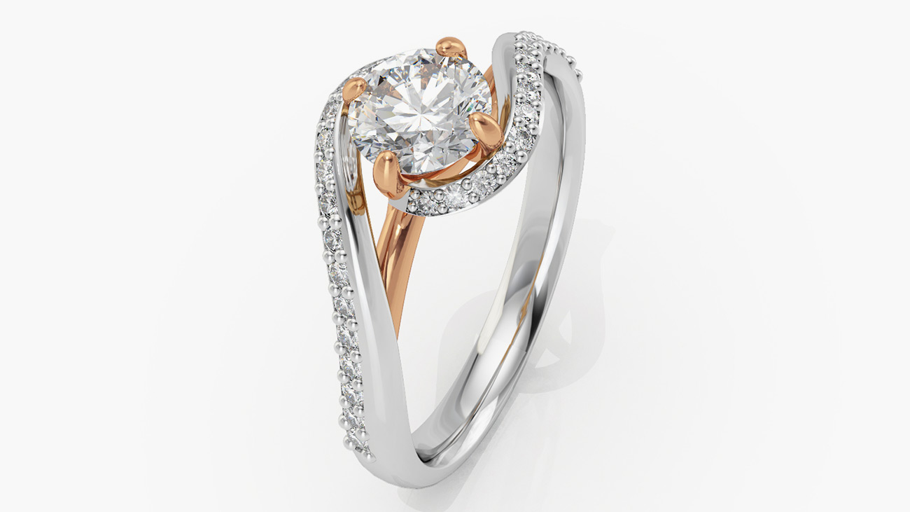 gold solitaire ring product white platinum princess cathedral shown design cut carat diamond with center a engagement